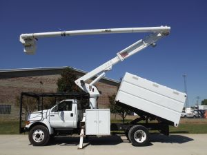 2007 FORD F-750 11 FT. SOUTHCO FORESTRY BODY, 61 FT. WORK HEIGHT ALTEC LRV56 MODELBOOM