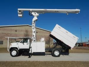 2002 GMC C7500 11 FT SOUTHCO FORESTRY BODY 75 FT WORK HEIGHT ALTEC LRV60-70 ELEVATOR MODEL BOOM COMING SOON