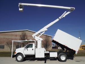 2007 FORD F750 11 FT ARBORTECH FORESTRY BODY 65 FT WORK HEIGHT LIFT-ALL LSS-60 MODEL BOOM