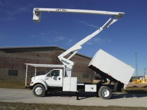 2006 FORD F750 11 FT ARBORTECH FORESTRY BODY 65 FT LIFT-ALL LSS-60-1S MODEL BOOM