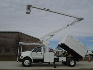2006 FORD F750 11 FT ARBORTECH FORESTRY BODY 65 FT WORK HEIGHT LIFT-ALL LSS-60-1S MODEL BOOM