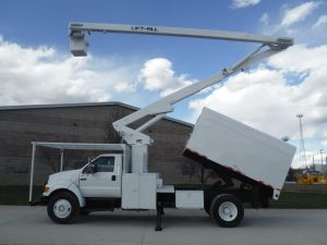 2005 FORD F750 11 FT ARBORTECH FORESTRY BODY 65 FT WORK HEIGHT LIFT-ALL LSS-60-1S MODEL BOOM