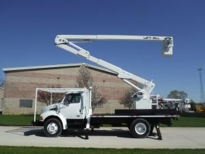 2004 STERLING ACTERRA 14 FT FLATBED 60 FT LIFT-ALL LAOC-55-1 MODEL BOOM