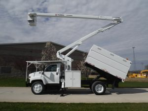 2005 GMC C7500 11 FT SOUTHCO FORESTRY BODY 60 FT WORK HEIGHT TEREX HI-RANGER XT55 MODEL BOOM