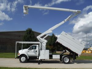 2005 FORD F750 11 FT SOUTHCO FORESTRY BODY 65 FT WORK HEIGHT LIFT-ALL LSS-60-1S MODEL BOOM