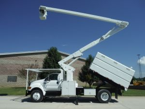 2008 FORD F750 11 FT SOUTHCO FORESTRY BODY 65 FT WORK HEIGHT LIFT-ALL LSS-60-1S MODEL BOOM