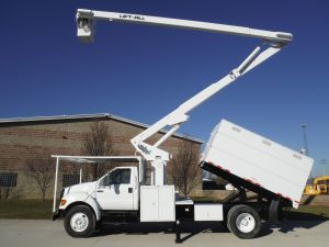 2007 FORD F750 11 FT FORESTRY BODY 65 FT WORK HEIGHT LIFT-ALL LSS-60-1S MODEL BOOM