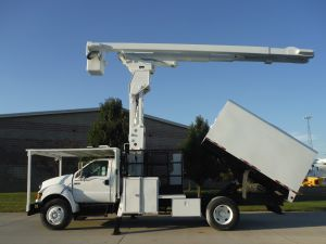 2007 FORD F750 11 FT ARBORTECH FORESTRY BODY 75 FT WORK HEIGHT LIFT-ALL LSS60/70-1S ELAVATOR MODEL BOOM