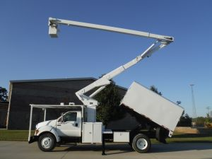 2007 FORD  F750 11 FT ARBORTECH FORESTRY BODY 65 FT LIFT-ALL LSS-60-15