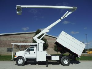 2005 FORD F750 11 FT SOUTHCO FORESTRY BODY 65 FT WORK HEIGHT LIFT-ALL LSS-60-1S MODEL