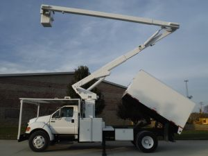 2007 FORD F750 11 FT ARBORTECH FORESTRY BODY 65 FT WORK HEIGHT LIFT-ALL LSS-60-1S MODEL BOOM