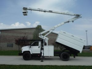 2005 GMC C7500 11 FT SOUTHCO FORESTRY BODY 60 FT WORK HEIGHT TEREX HI-RANGER MODEL XT55