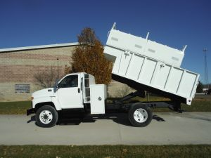 2004 GMC C7500 12 FT ARBORTECH CHIP BOX WITH REMOVABLE TOPS