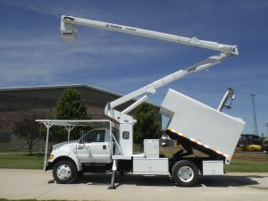 2010 FORD F750 11 FORESTRY BODY 65 FT WORK HEIGHT TEREX HI-RANGER XT MODEL BOOM - BUCKET TRUCK