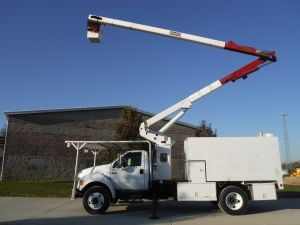 2008 FORD F750 11 FT ARBORTECH FORESTRY BODY 60 FT WORK HEIGHT TEREX HI-RANGER XT55 MODEL BOOM