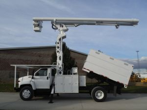 2008 GMC C7500 11 FT SOUTHCO FORESTRY BODY 75 FT WORK HEIGHT ALTEC  LRV60-70 ELEVATOR MODEL BOOM