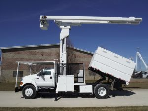 2009 FORD F750 10 FT SOUTHCO FORESTRY BODY 75 FT WORK HEIGHT LIFT-ALL LSS-60-70-1S ELEVATOR MODEL BOOM