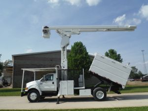 2009 FORD F750 10 FT SOUTHCO FORESTRY BODY 75 FT WORK HEIGHT LIFT-ALL LSS-60-70-1S ELEVATOR MODEL BOOM - Bucket Truck