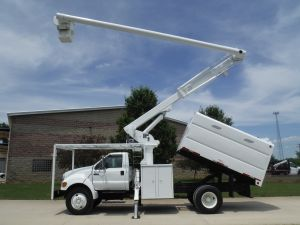 2007 FORD F750 11 FT ALTEC FORESTRY BODY 61 FT WORK HEIGHT ALTEC LRV56 MODEL BOOM