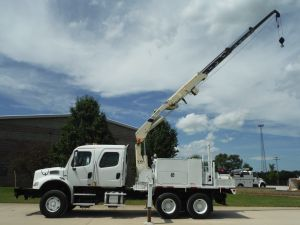 2008 FREIGHTLINER M2-112 18 FT FLATBED NATIONAL N100 HYDRAULIC KNUCKLE BOOM CRANE