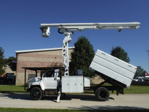 2006 GMC C7500 11 FT SOUTHCO FORESTRY BODY 75 FT WORK HEIGHT ALTEC  LRV60-70 ELEVATOR MODEL BOOM
