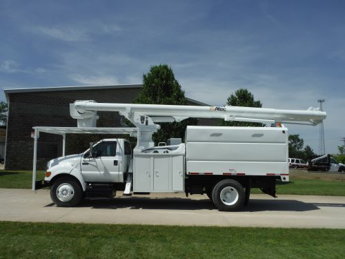 2007 FORD F750 11 FT ARBORTECH FORESTRY BODY 75 FT WORK HEIGHT ALTEC LRV60-70 ELEVATOR MODEL BOOM