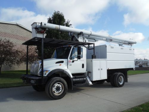 2007 INTERNATIONAL 7300 4X4 11 FT SOUTHCO FORESTRY BODY 63 FT WORK HEIGHT ALTEC LRV58 MODEL BOOM
