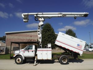 2007 FORD F750 11 FT SOUTHCO FORESTRY BODY 75 FT WORK HEIGHT ALTEC LRV60-70 ELEVATOR MODEL BOOM