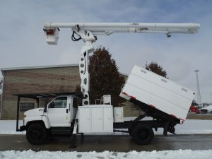 2008 GMC C7500 11' SOUTHCO FORESTRY BODY 75' ALTEC LRV 60-70 MODEL BOOM