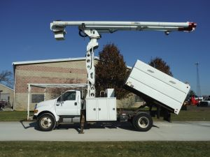 2008 FORD F750 11' SOUTHCO FORESTRY BODY 75' WORK HEIGHT ALTEC LRV 606-70 ELEVATOR MODEL BOOM