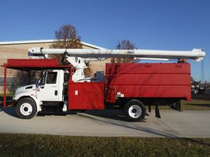 2009 INTERNATIONAL 11' ARBORTECH FORESTRY BODY, 75' ALTEC LRV 60-70 MODEL BOOM