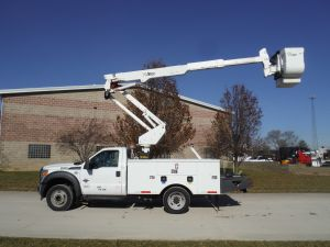 2011 FORD F-550 11' ALTEC UTILITY BED 42' ALTEC AT 37 MODEL BOOM
