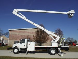 2010 INTERNATIONAL 4300 12' ALTEC FLATBED 80' LIFT ALL MODEL BOOM