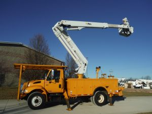 2007 INTERNATIONAL 4300 14' ALTEC UTILITY 55' WORK HEIGHT ALTEC TA50