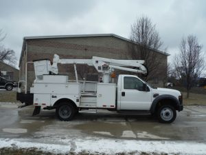 2008 FORD F550 11' ALTEC UTILITY 42' WORK HEIGHT ALTEC AT37