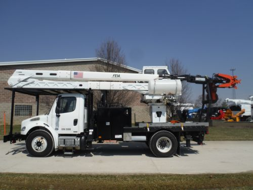 2011 FREIGHTLINER BUSINESS CLASS M2 11' FLATBED 55' WORK HEIGHT TEREX HRX-55