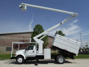 2009 FORD F750 11' SOUTHCO FORESTRY BODY 65' WORK HEIGHT LIFT-ALL L55-60-15