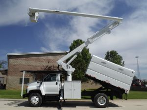 2008 GMC C7500 11' SOUTHCO FORESTRY BODY 60' WORK HEIGHT ALTEC LRV55