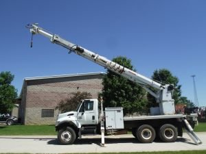 2007 INTERNATIONAL 7400 6X6 16' FLATBED 60' WORK HEIGHT ALTEC P3606TR DIGGER DERRICK