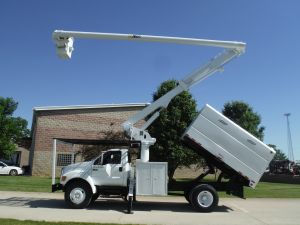 2007 FORD F750 11' SOUTHCO FORESTRY BODY 63' WORK HEIGHT ALTEC LRV58