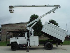 2005 GMC C7500 11 FT SOUTHCO FORESTRY BODY 60 FT WORK HEIGHT TEREX HI-RANGER XT 55 MODEL BOOM