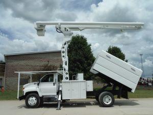 2009 GMC C7500 11' SOUTHCO FORESTRY BODY 75' WORK HEIGHT ALTEC LRV60-70 ELEVATOR MODEL BOOM