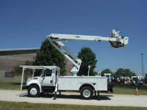 2007 INTERNATIONAL 4300 14' ALTEC UTILITY 55' WORK HEIGHT ALTEC TA50 MODEL BOOM