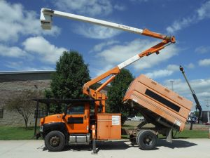 2008 GMC C7500 11' SOUTHCO FORESTRY BODY 60' WORK HEIGHT TEREX HI-RANGER XT-55 MODEL BOOM