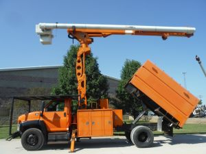 2009 GMC C7500, 11' ALTEC FORESTRY BODY, 75' ALTEC LRV60-70 ELEVATOR MODEL BOOM