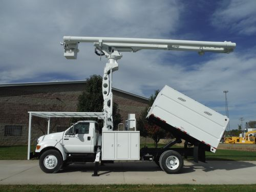 2009 FORD F750 11 FT SOUTCHCO FORESTRY BODY 75 FT WORK HEIGHT ALTEC LRV60-70 ELEVATOR MODEL BOOM
