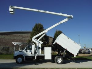 2011 INTERNATIONAL DURA STAR, 11' SOUTHCO FORESTRY BODY, 65' WORK HEIGHT TEREX HI-RANGER XT60 MODEL BOOM