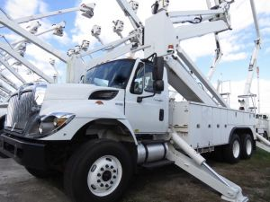 2012 INTERNATIONAL 7400 6X6 105 FT WORK HEIGHT ALTEC AM 900-100E DOUBLE ELEVATOR MODEL BOOM