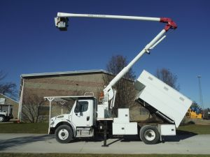 2010 FREIGHTLINER BUSINESS CLASS M2, 11' ARBORTECH FORESTRY BODY, 60' WORK HEIGHT AERIAL LIFT 60505IL4H MODEL BOOM
