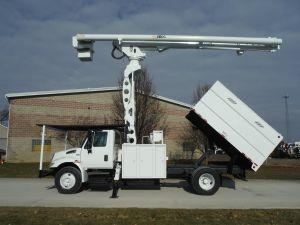 2009 INTERNATIONAL 4300 11' SOUTHCO FORESTRY BODY 75' WORK HEIGHT ALTEC LRV60-70 ELEVATOR MODEL BOOM